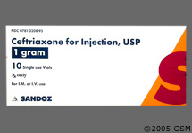 how much lidocaine to mix with 1 gram rocephin