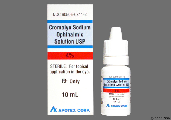 Cromolyn Sodium; Sodium Cromoglycate; Disodium Cromoglycate