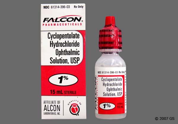 Cyclopentolate Drops Storage
